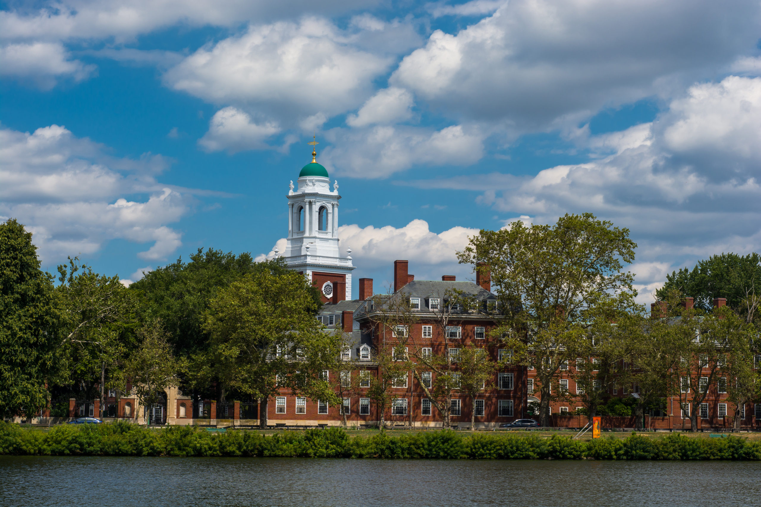Eliot house Harvard University Cambridge Massachusettes. On the bank of the Charles River