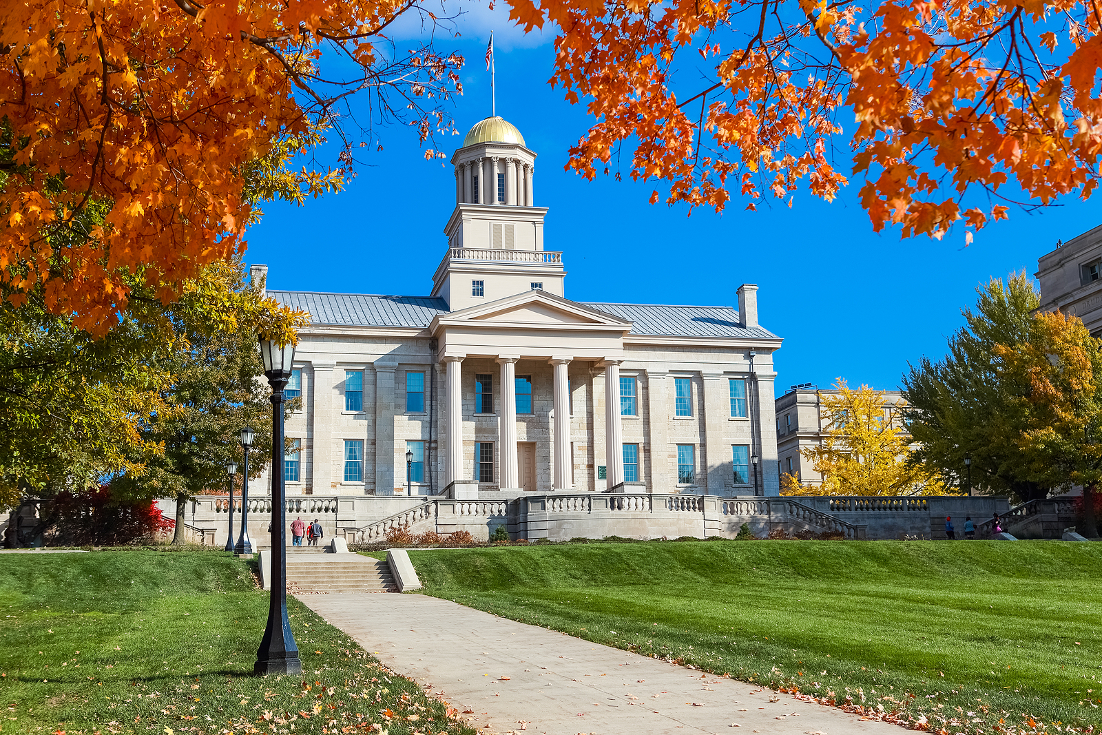 Old Capitol building downtown Iowa City
